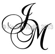 Monogram Med Bokstaverna J Och M